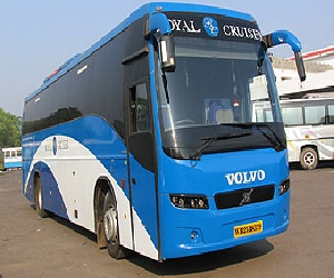 volvo bus start for nainital delhi.