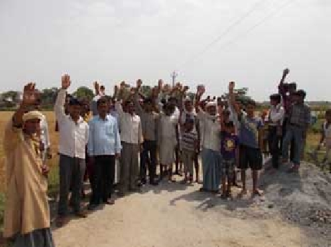 Villagers workers hostage