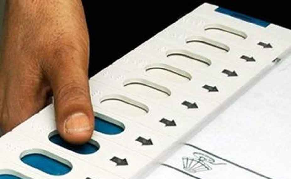 Election Commission coloured photo of candidate in electronic voting machine