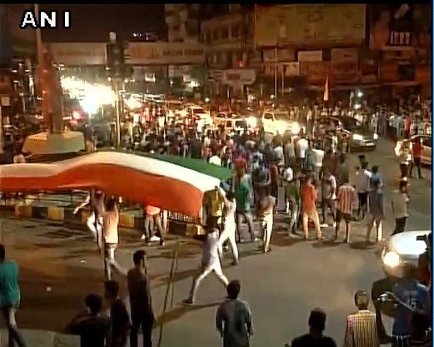 Celebrations in indian cities after india beat Pakistan by 124 runs in ICC Champions Trophy