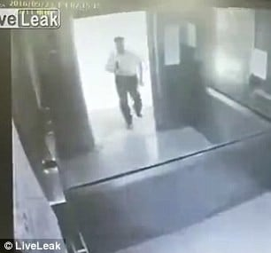 Taiwan: Horrifying moment a man is crushed by an elevator in university lift