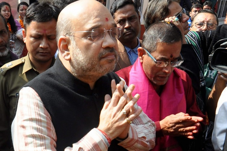 bjp president amit shah on north east tour to do rallies for upcoming assembly elections campaigning