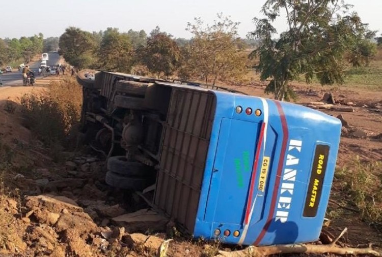 Chhattisgarh: Two killed and 16 injured after a bus road accident in Bastar