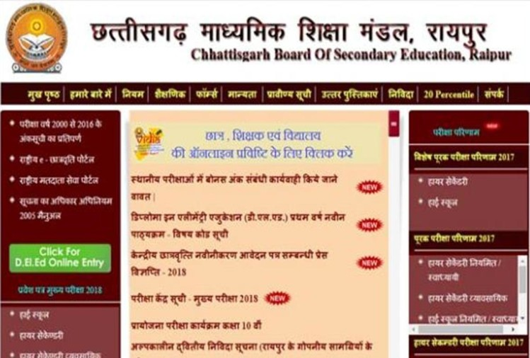 CGBSE 10TH 12TH RESULT 2018 DECLARED CHECK HERE