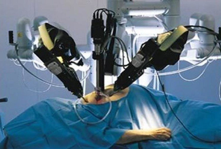 First surgery done through a robot, a rare type of tumor found