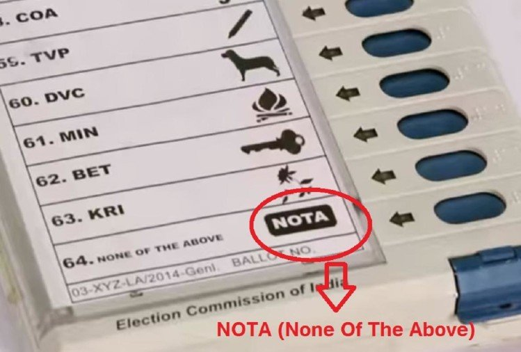 BJP lost 6 seats due to the NOTA in Karnataka assembly election