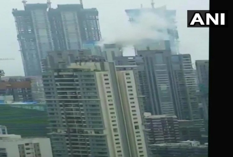 Mumbai: fire breaks out in commercial premises at Appasaheb Marathe Marg in Worli