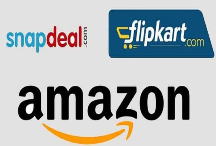 Amazon, Flipkart and Snapdeal