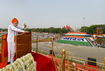 LIVE: Prime Minister Narendra Modi arrives at Red Fort, to address the nation on independence day